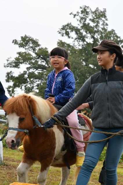 ふれあい牧場で乗馬体験