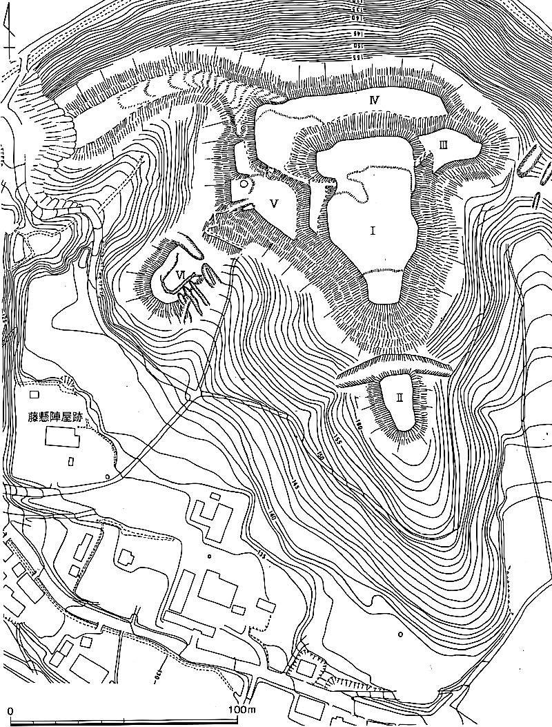 上林城跡縄張り図